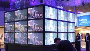 Samsungs 3D-produkter vid Samsung European Forum i Wien i februari 2010.