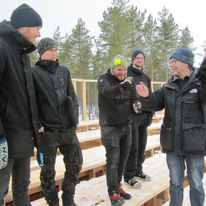 Fem män i Harparskog.