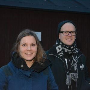 Porträttbild på Riina Lindroos och Erik Lindroos.
