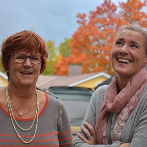Kerstin Ståhlberg och Daniela Andersson fredagssnackade 30.9.2016.