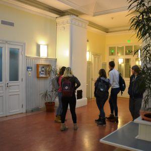 Studerande i Hangö gymnasium