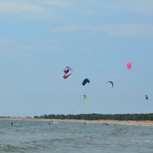 Kitesurfare i Hangö