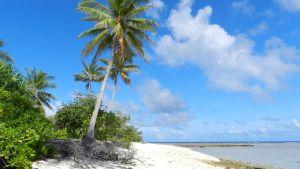 Strand på Kiribati