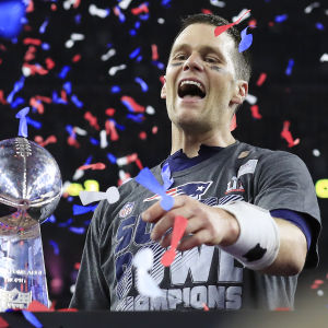 Tom Brady, quarterback för New England Patriots.