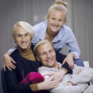 Succémorgon, Christoffer Strandberg, Fredrika Lindholm, Janne Grönroos