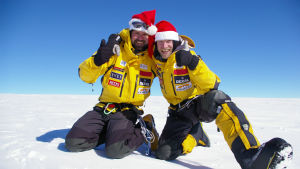 Pata Degerman och Veikka Gustafsson på Antarktis.