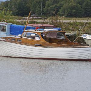 En träbåt från början av 1960-talet