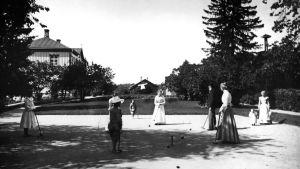 Krocketspel på 1910-talet