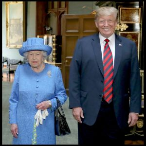Donald Trump och drottning Elizabeth i Windsor Castle 13.7.2018.