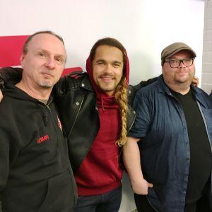 Levylautakunnassa 22.4.2017 Juha-Pekka Sillanpää, Pete Parkkonen, Sami Pitkämö ja pj. Hanna Pakarinen