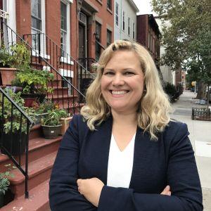Johanna Törn-Mangs i Brooklyn i New York.