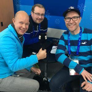 Kaj Kunnas, Antti Koivukangas och Christian Vuojärvi i Yle Sportens podd, avsnitt 3.