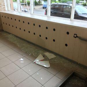 Pizzeria angripen i Pargas.