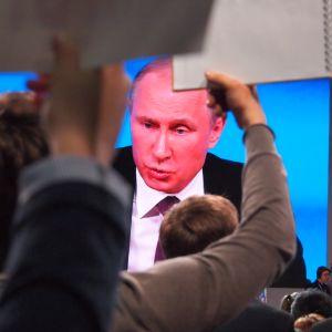 Putin lehdistötilaisuudessa Moskovassa 2015