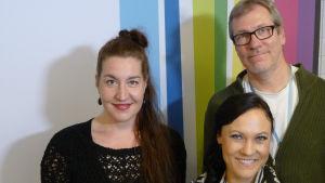 Mira Luoti, Tuuli Saksala ja Jyrki Koskenseppä Levylautakunnassa