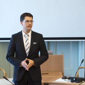 Sverigedemokraternas ordförande Jimmie Åkesson år 2010.