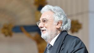 Den spanska tenoren och dirigenten Placido Dominigo medverkar vid påvens mottagning i Vatikanstaten i mars 2016.