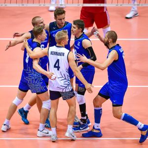 Finlands herrlandslag i volleyboll.