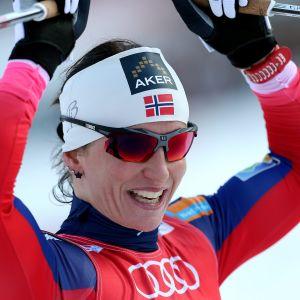 Marit Björgen, etta i prologen på Tour de Ski.