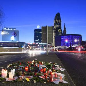 minnesplats för offren i terrorattacken i berlin