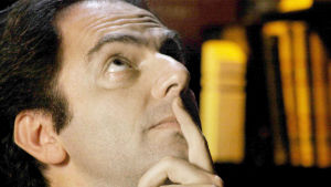 Näyttelijä Neri Marcorè on Italo Calvino elokuvassa Inside Italo