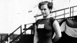 Greta Johansson under OS i Stockholm 1912.
