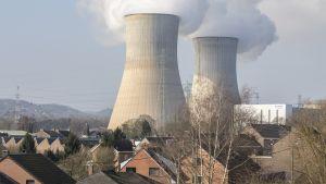 Kärnkraftsverket Tihange i Belgien i mars 2016.