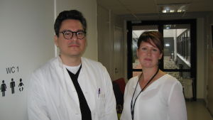 överläkare Andreas Blanco Sequeiros och serviceområdeschef Heidi Pettersson