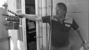 """Åke Lindman regisserar """"Den förtrollade vägen"""", 1986"""