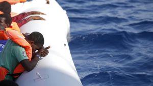 Räddningsoperation på Medelhavet den 20 oktober.