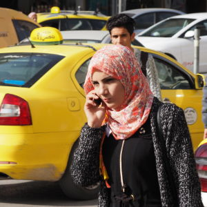 Kvinna i Ramallah.