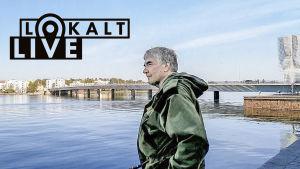 Fiskaren Risto Paaja vid Drumsö bro.