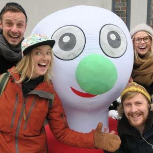 BUU-stämpeln, Lisa Gerkman, Malin Olkkola, Staffan Gräsbeck och Jontti Granbacka