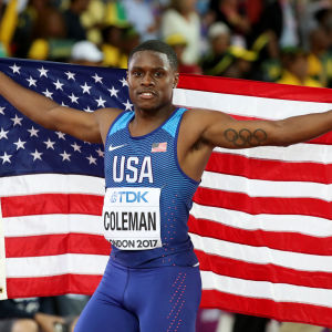 Christian Coleman firar VM-silvret i London.