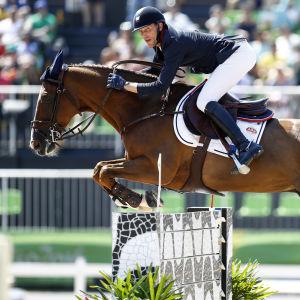 Kevin Staut i hetluften i Rio 2016.