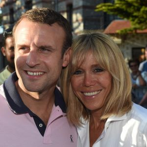 Frankrikes president Emmanuel Macron med hustrun Brigitte.