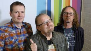 Jami Liukkonen, Jope Ruonansuu ja Juha-Pekka Sillanpää Levylautakunnassa