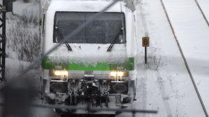 Tågtrafik vintertid.