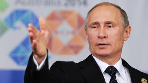 President Vladimir Putin vid G-20-mötet i Australien 16.11.2014.