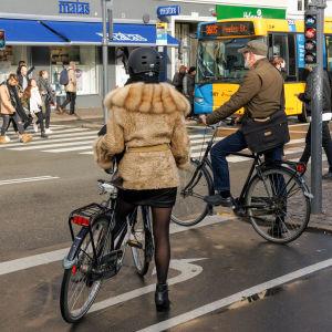 Cyklister i Köpenhamn i oktober 2016.
