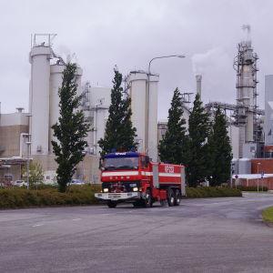 Brand vid UPM Kymmene i Jakobstad.
