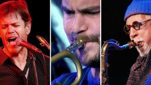 Donny McCaslin, Verneri Pohjola ja Charles Lloyd lavalla Tampere Jazz Happeningissä 2016. Kuvat Yle Live -taltioinneista.