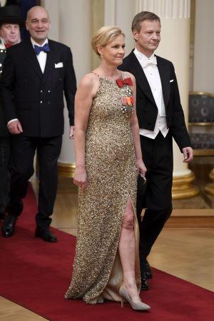 Eva Biaudet och Thomas Forsström på slottsbalen.