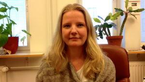 Hanna Lundberg, verksamhetsledare på Beroendemottagningen i Mariehamn