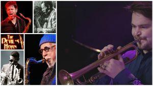 Verneri Pohjola ja muita jazzmuusikoita. Kuvat Teeman jazzkesän 2017 ohjelmistosta.