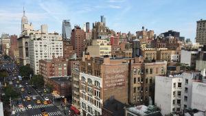 Vy över stadsdelen Greenwich Village på Manhattan i New York.