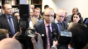 Simon Elo, ordförande för den sannfinländska utbrytargruppen Nytt alternativ, intervjuas i Helsingfors den 13 juni 2017.