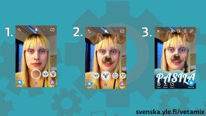 Skärmdumpar från Snapchat.