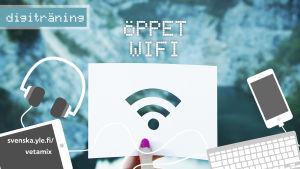 Digiträning huvudbild för artikel om öppet wifi.