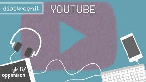 Digitreenien pääkuva, teksti Youtube.